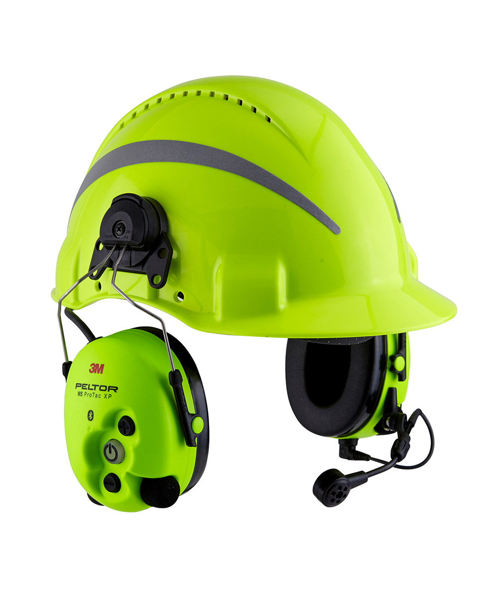 3M WS ProTac XP Forestry combiné casque radio HiVis