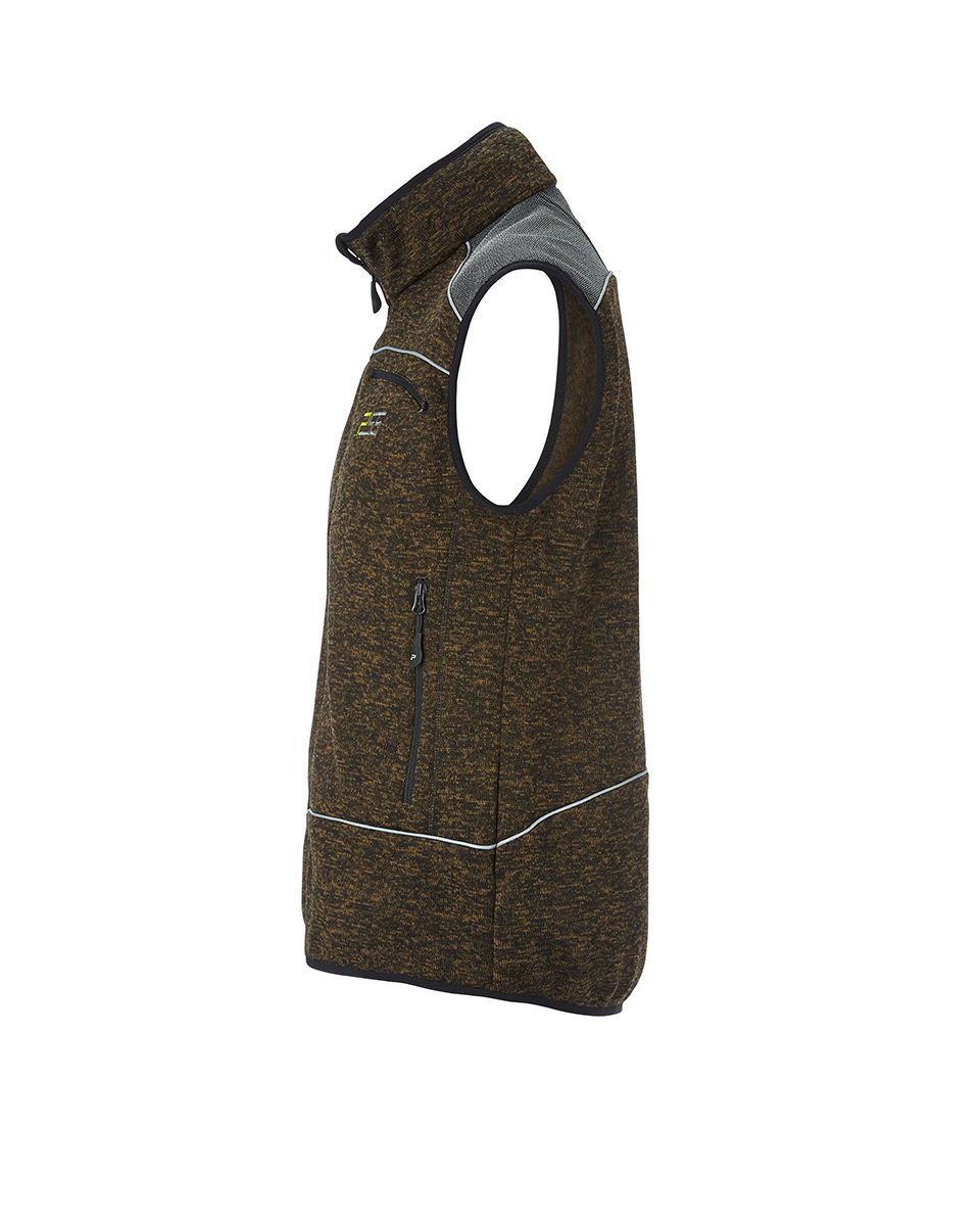 Gilet en tricot PSS X-treme Nordic vert chiné Image 2