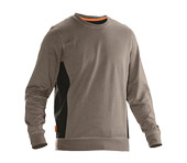 Sweat-shirt JOBMAN 5402 kaki/noir