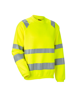 Sweat-shirt HiVis 1150 JOBMAN Jaune