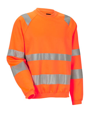 Sweat-shirt HiVis 1150 JOBMAN Orange
