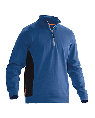 Sweat-shirt JOBMAN 5401 bleu/noir