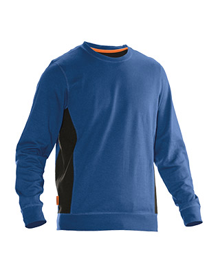 Sweat-shirt JOBMAN 5402 bleu/noir