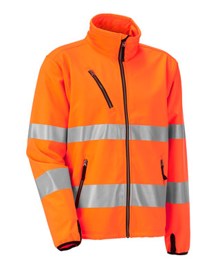 Veste softshell HiVis 1202 JOBMAN orange